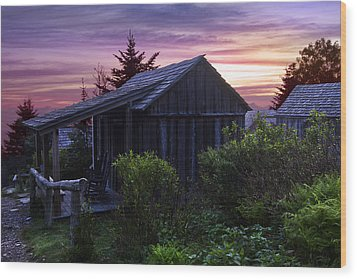 Pink Dawn Wood Print by Debra and Dave Vanderlaan