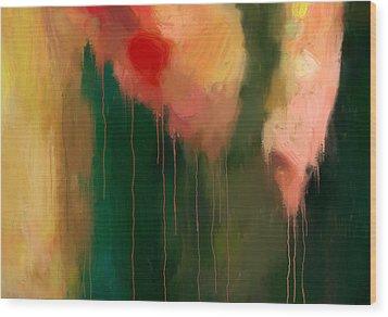 Pink Drips Wood Print by Michael Pickett