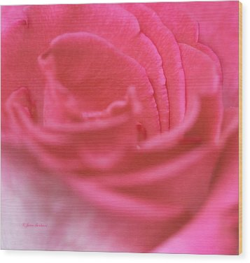 Wood Print featuring the photograph Pink Edges by Joan Bertucci