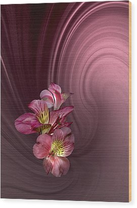 Wood Print featuring the photograph Pink Fantasy by Judy  Johnson