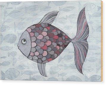 Pink Fish Wood Print by Georgiana Chitac