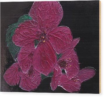 Pink Flowers Wood Print by Angela Stout