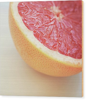 Pink Grapefruit Wood Print by Dhmig Photography