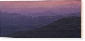 Pink In Layers Wood Print by Ryan Heffron