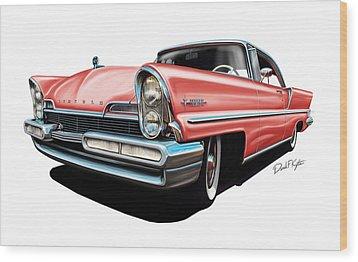 Pink Lincoln Premier  Wood Print by David Kyte