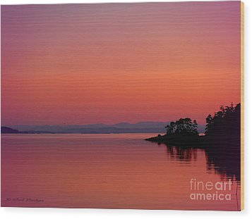 Pink Morn At Rock Point Wood Print by Gail Bridger