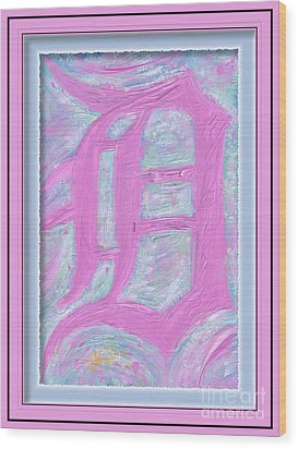 Pink Old English D Framed Wood Print by Donald Pavlica