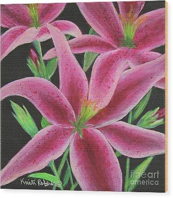 Pink Paradise Wood Print by Kristi Roberts