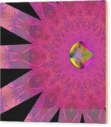 Pink Ribbon Of Hope Wood Print by Alec Drake