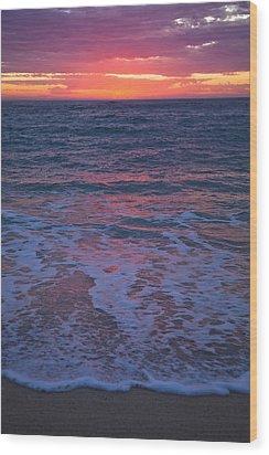 Pink Sunset Wood Print by Serene Maisey