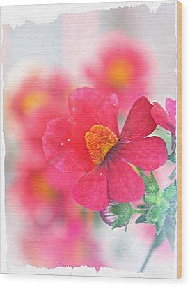 Pink Wood Print by Susie DeZarn
