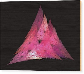 Pink Triangles Wood Print by Lynn Bolt