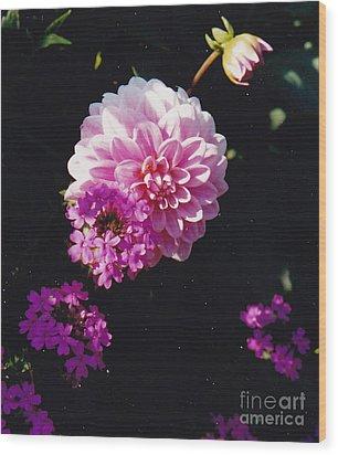 Pinkish Purplish Wood Print