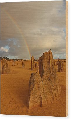 Pinnacle Rainbow Wood Print