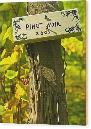 Pinot  03 Wood Print by James Rowland