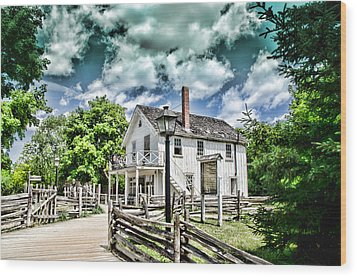 Pioneer Village Wood Print by Jana Smith