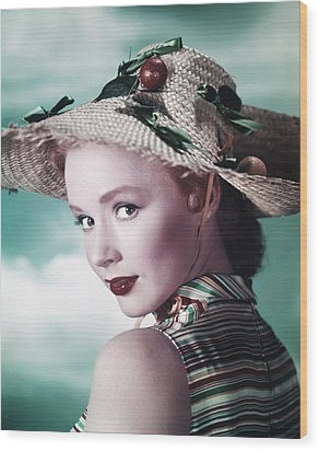 Piper Laurie, Ca. Early 1950s Wood Print by Everett