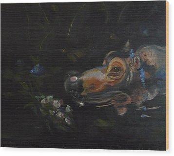 Wood Print featuring the painting Pippa O'thomas As Ophelia by Jessmyne Stephenson