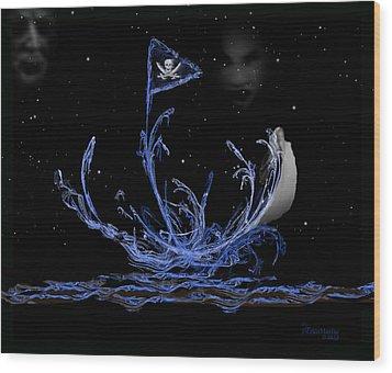 Pirate Ship Wood Print by EricaMaxine  Price