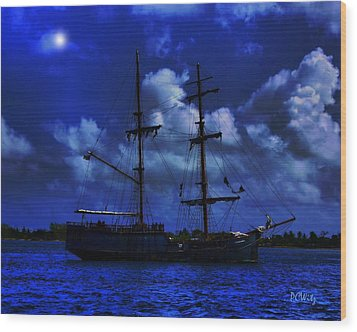 Pirate's Blue Sea Wood Print by Patrick Witz