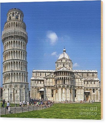 Pisa Italy - Piazza Dei Miracoli - 01 Wood Print by Gregory Dyer