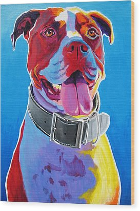 Pit Bull - Buster Wood Print by Alicia VanNoy Call