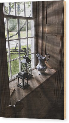 Pitcher Window Wood Print by Peter Chilelli