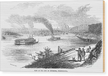 Pittsburgh, 1853 Wood Print by Granger