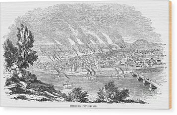 Pittsburgh, 1855 Wood Print by Granger