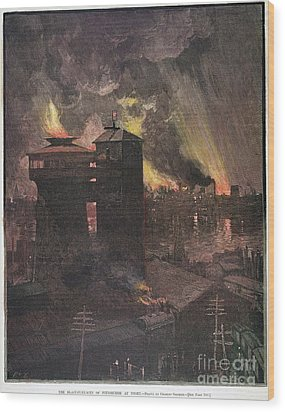 Pittsburgh: Furnaces, 1885 Wood Print by Granger