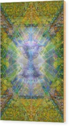 Pivortexspheres Lt On Chalicell Garden Tapestry Iv Wood Print by Christopher Pringer