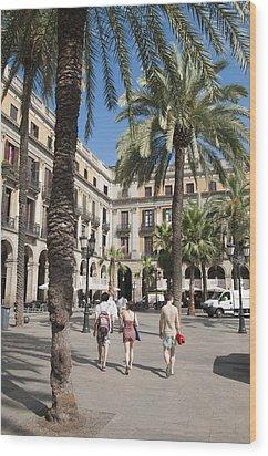 Placa Reial Barcelona Spain Wood Print by Matthias Hauser