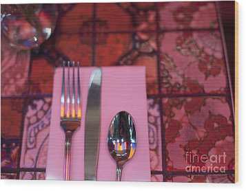 Place Setting Wood Print by Sam Bloomberg-rissman