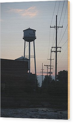 Wood Print featuring the photograph Plainwell Paper Mill II by Penny Hunt