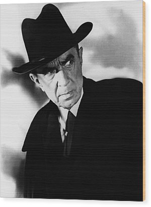 Plan 9 From Outer Space, Bela Lugosi Wood Print by Everett