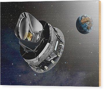 Planck Space Observatory, Artwork Wood Print by David Ducros