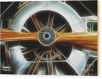 Plane Wood And Chrome Wood Print by Paul Ward