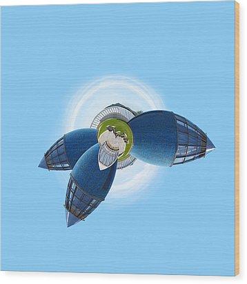 Planet Bonn Wood Print by Design Windmill