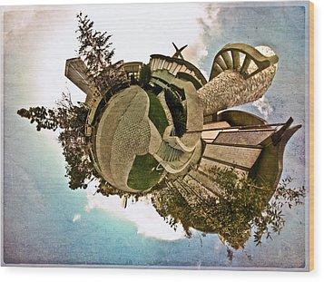 Planet Lacma Wood Print by Natasha Bishop