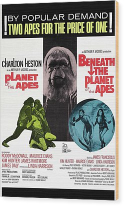 Planet Of The Apes, 1968 Wood Print by Everett