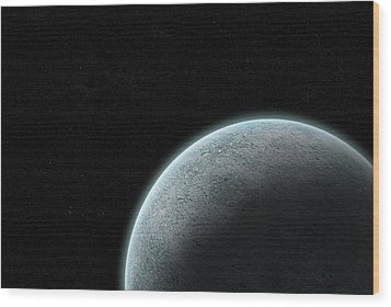 Planet With Atmosphere Wood Print by Richard Newstead