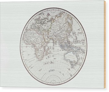 Planispheric Map Of The Eastern Hemisphere Wood Print by Fototeca Storica Nazionale