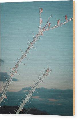 Plant Wood Print by Naxart Studio