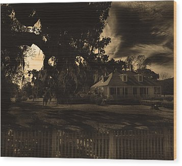 Plantation House  Wood Print by Maggy Marsh