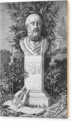 Plato, Ancient Greek Philosopher Wood Print by
