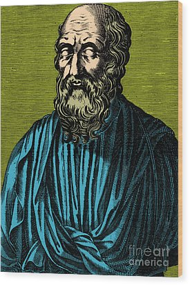 Plato, Ancient Greek Philosopher Wood Print by Photo Researchers