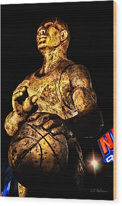 Player In Bronze Wood Print by Christopher Holmes