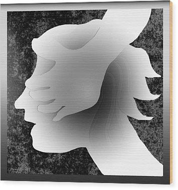 Playing Blindfold Wood Print by Asok Mukhopadhyay