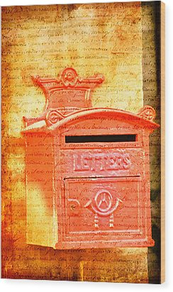 Please Mr Postman... Wood Print by Taschja Hattingh