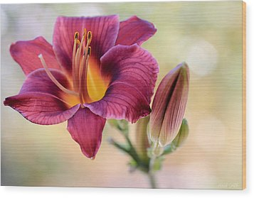 Plum Perfect Wood Print by Heidi Smith